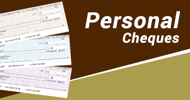 personal cheques